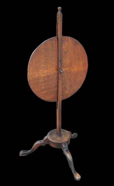 17th Century Oak Circular Fire Screen - Rare