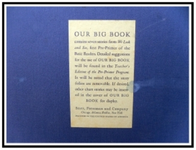 Teacher's Copy of 'Our Big Book' - of the Dick and Jane series