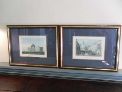 A Good Pair of Contemporary Prints with Scenes of American Cities