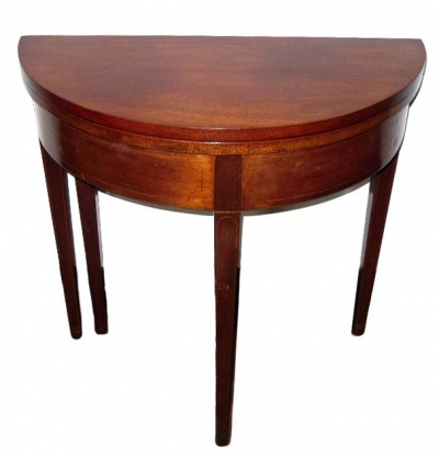 Child's Size Demilune Lift Top Table