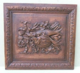 Well Carved Victorian Frame Depicting Trophy of Fish
