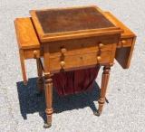 Satinwood Ladies Sewing/Work Table