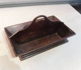19th Century Oak Cutlery box with handle