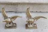 Pair of Cast Metal Eagles