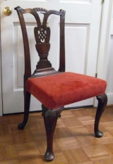 18th Century Mahogany Side Chair with Angel Carving to Knee