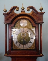 Early 19th Century Oak Tall Case Clock with Brass Dial