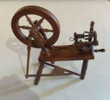 Handmade Miniature Spinning Wheel