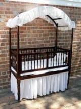 Mahogany Canopied Crib