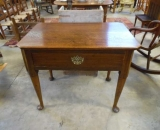 19th Century American Chestnut Table with Pad Feet