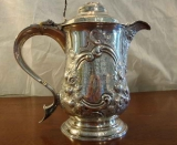 STERLING SILVER COVERED TANKARD