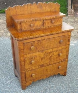 Small Tiger Maple Chest of drawers