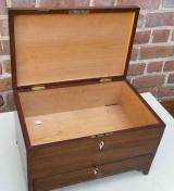 Mahogany Box with One Drawer