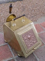 Brass and Copper Coal Hod