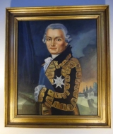 Oil on Canvas Portrait of Lafayette by Contemporary Artist