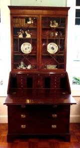 Early 19th Century Glass Front Mahogany Secretary