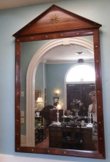 Outstanding Mid 19th Century Large Mahogany Architectural Mirror