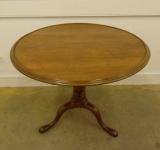 Pennsylvania Walnut Dish Top Table with Pad Feet