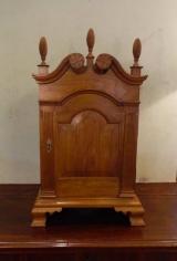 Craftsman Sample of 18th Century Walnut Spice Cabinet on Ogee Bracket Feet