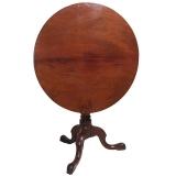 Round 18th Century Tilt Top Tea Table in Walnut