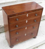 Miniature Mahogany Four Drawer Chest