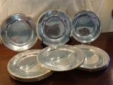 SET OF 12 SILVER PLATE DISHES