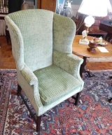Small Sized Wing Chair with Straight Tapered Legs