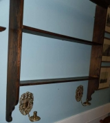 Pine Wall Hung Pewter Rack
