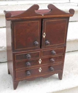 Craftsman Sample of Mahogany Linen Press