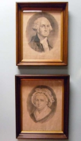 Pair of Currier & Ives Priints of George and Martha Washington