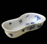 English Blue and White Meissen Bidet
