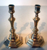 Pair of French 18th Century Brass Candle Sticks