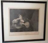 "Hogarth Print ""Sigismonda"""