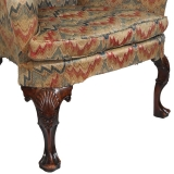 Wing Back Chair with Cabriole Legs