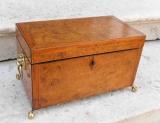 Burled Walnut Tea Caddy