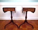 Pair of 19th Century Drop Leaf Side Tables