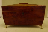 Burled Yew Wood Tea Caddy