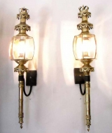 Outstanding Pair of Coach Lanterns