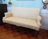 19th Century Queen Anne Settee with Cabriole Legs