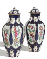 Pair of Samson Covered Vases