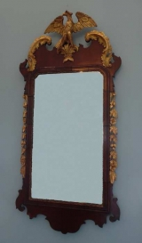 18th Century Mahogany Chippendale Mirror with Phoenix Bird