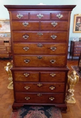 18th Century American Walnut Chest on Chest with Ogee Bracket Feet