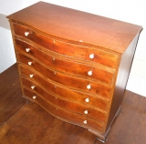 Mahogany Miniature Chest with Serpentine Front