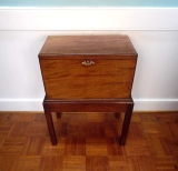 Mahogany Cellarette on Frame with Carrying Handles