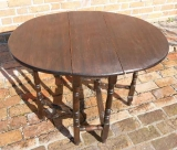 Child's Size Oak Gate Leg Table