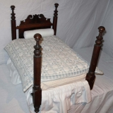 Victorian Doll Bed with Well Turned Posts