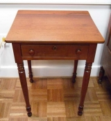 Walnut One Drawer Stand on Turned Legs