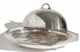 Silver Plate Meat Dome over Meat Platter