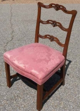 Chippendale Mahogany Side Chair with Ribbon Back