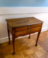 18th Century Oak Two Drawer Low Boy with Pad Feet
