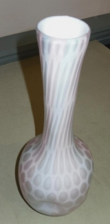 Antique Long Necked Opalescent Glass Water Bottle